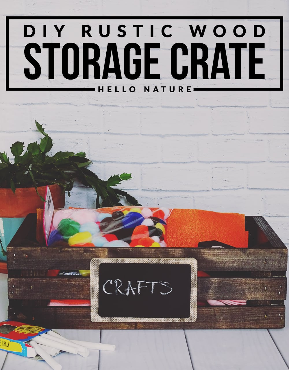 Want to add a bit of rustic charm and organization to your home? All you need is this simple to create wood storage crate DIY!