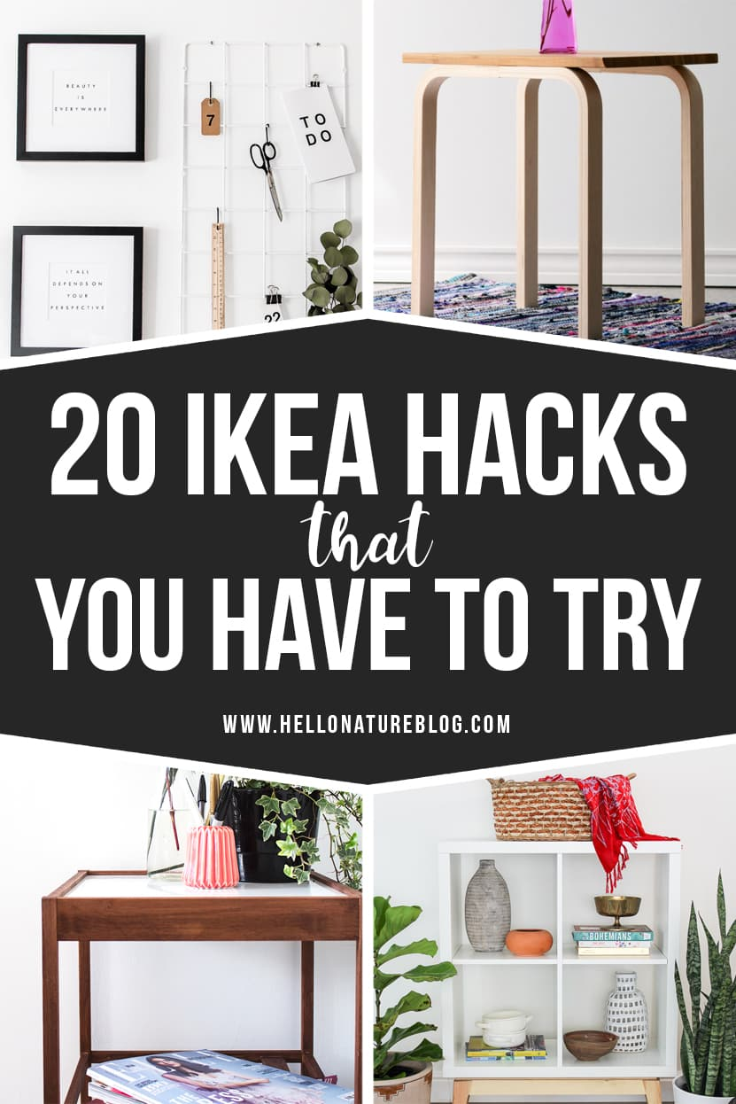 Upgrade your home with these twenty awesome IKEA hacks! With just a few changes, you'll have customized furniture that's perfect for your home! #IKEA #IKEAHacks #FurnitureHacks