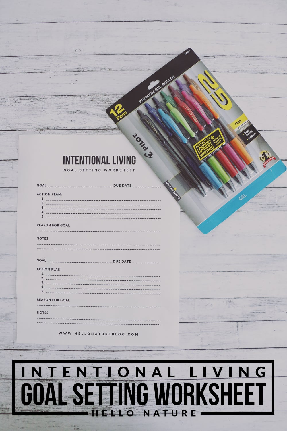 Living intentionally doesn't have to be hard. This goal setting worksheet will help you achieve your mindful goals in no time!