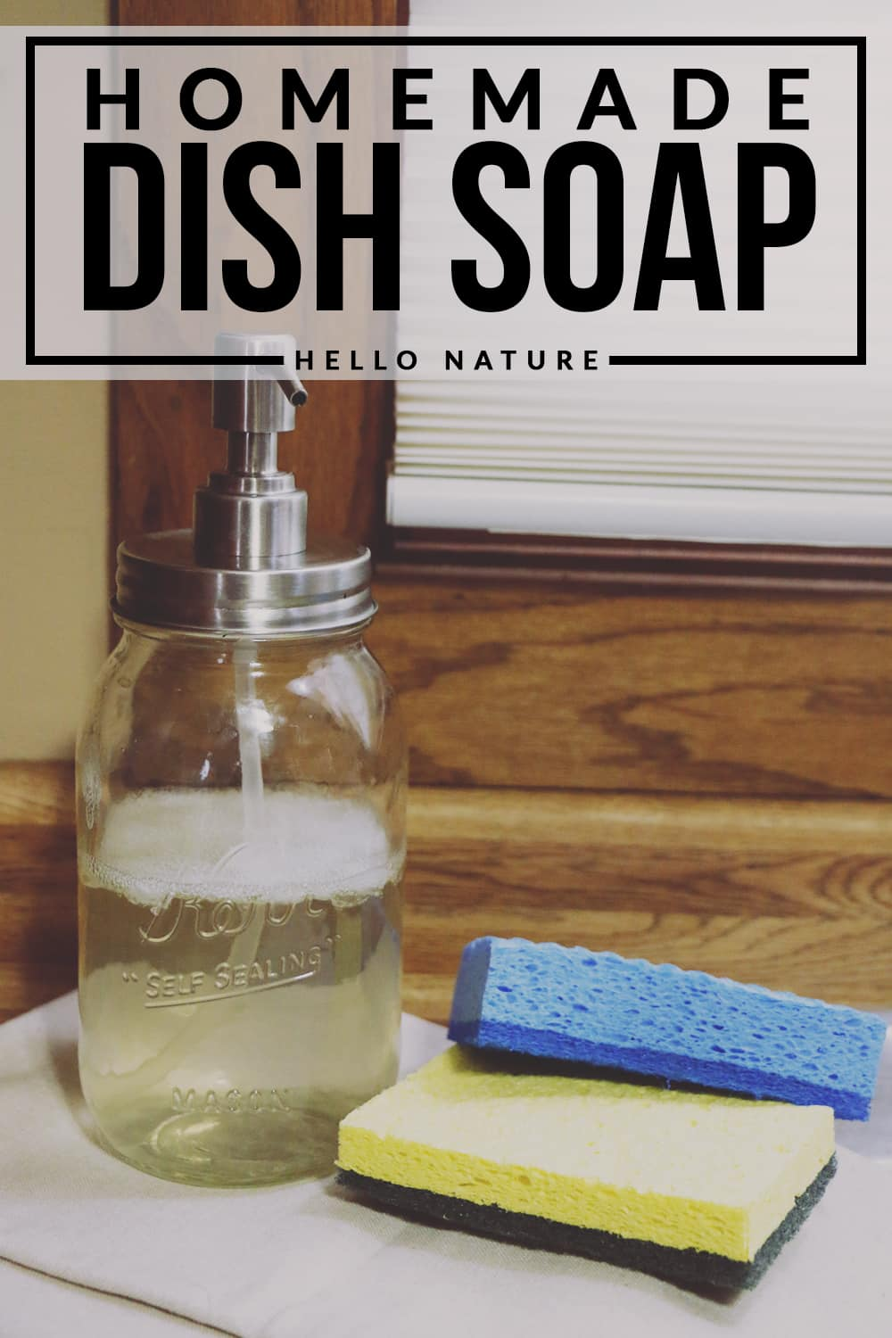 Did you know that homemade dish soap is ridiculously easy to make? This easy to follow recipe will help you make your own in no time!