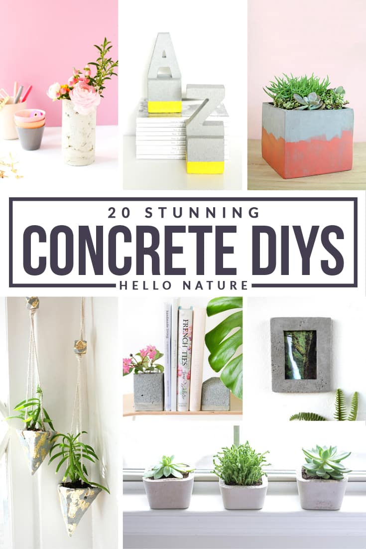 Add some unique decor to your home with these stunning concrete DIY projects.