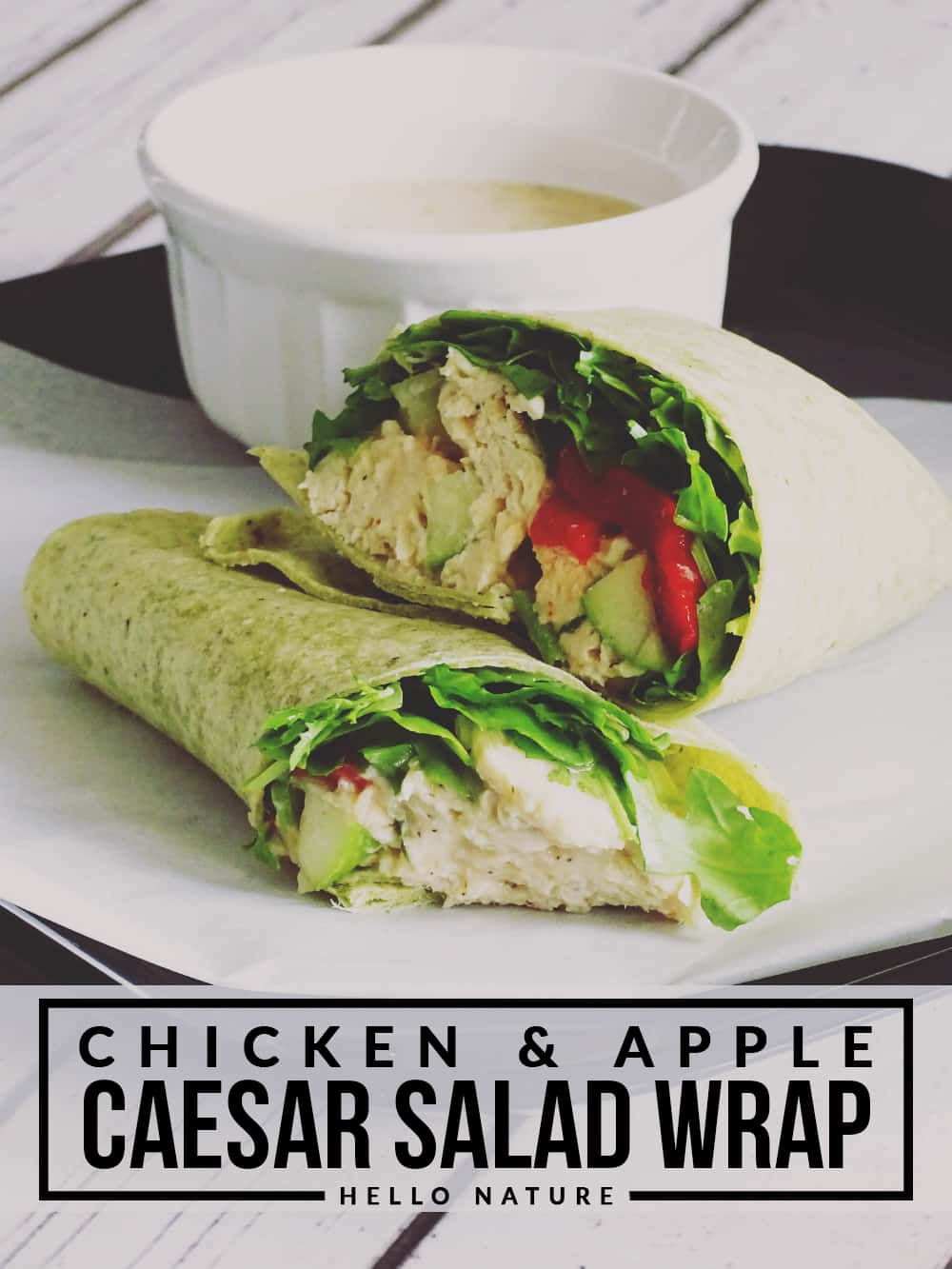 Looking for a fun way to shake things up at lunch? This Chicken and Apple Caesar Salad Wrap is the perfect option for a fun, quick meal!