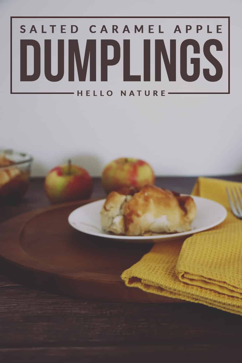 This warm and gooey salted caramel apple dumplings just screams comfort food on a crisp Autumn day. Perfect with ice cream or on it's own!