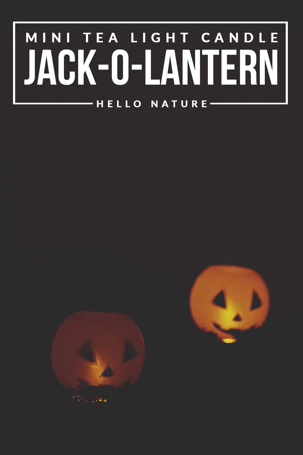 This easy to make Tea Light Jack-O-Lantern DIY is the perfect Halloween craft to add some extra spooky lighting and decor to your home!
