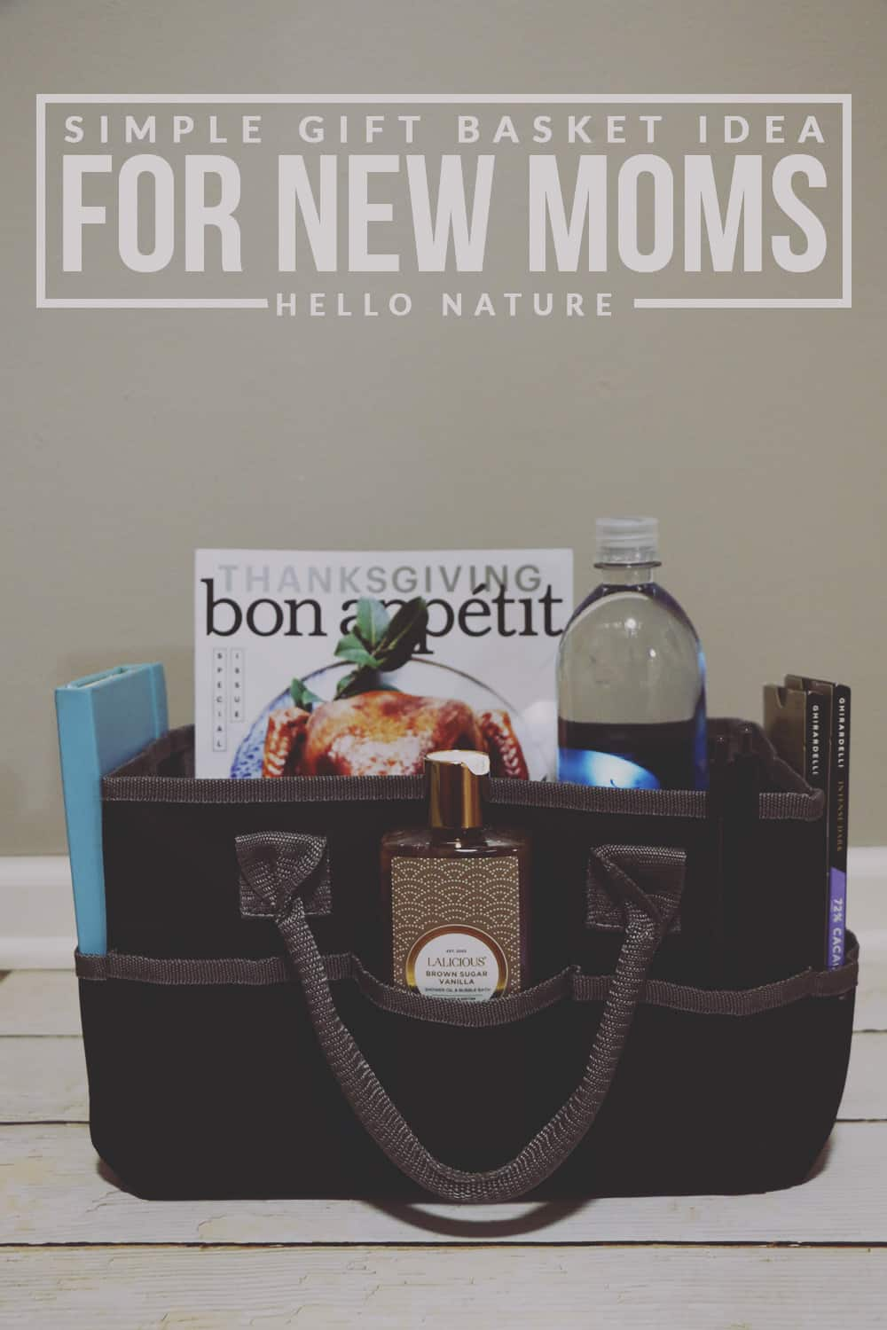 This simple gift basket idea for new moms is the perfect way to show a mother-to-be or new mother that you care!