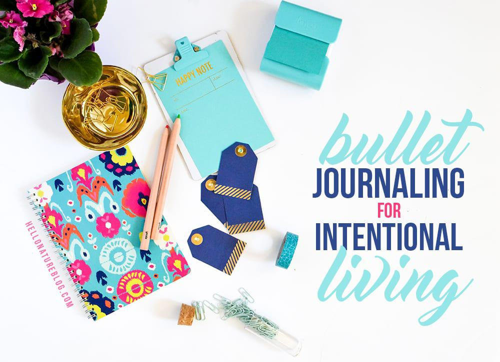 A simple introduction to using a Bullet Journal for Intentional Living. Find supplies, ideas, and more in this easy to follow guide.