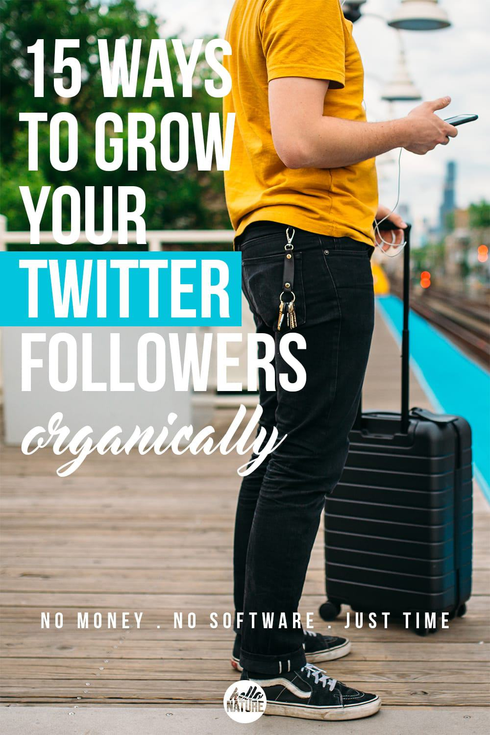 These fifteen ways to grow your Twitter followers organically will help your social media statistics soar without any money. All you need is time!