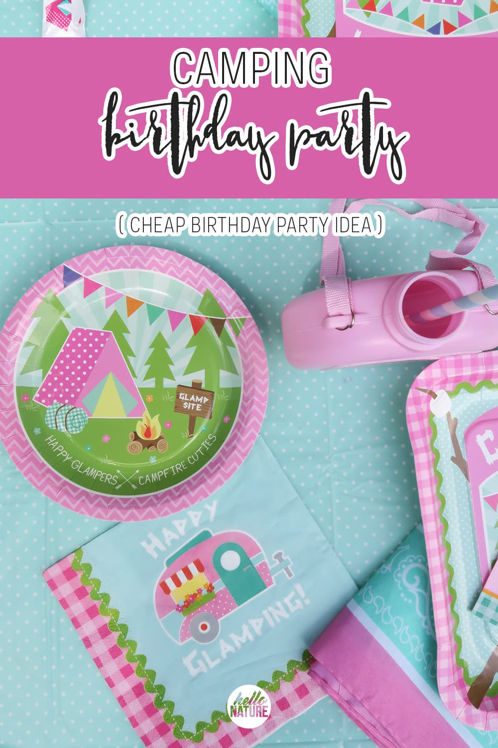 A camping birthday party is perfect for girls, young and old! This is one of the easiest cheap birthday party ideas that's fun for the whole family.