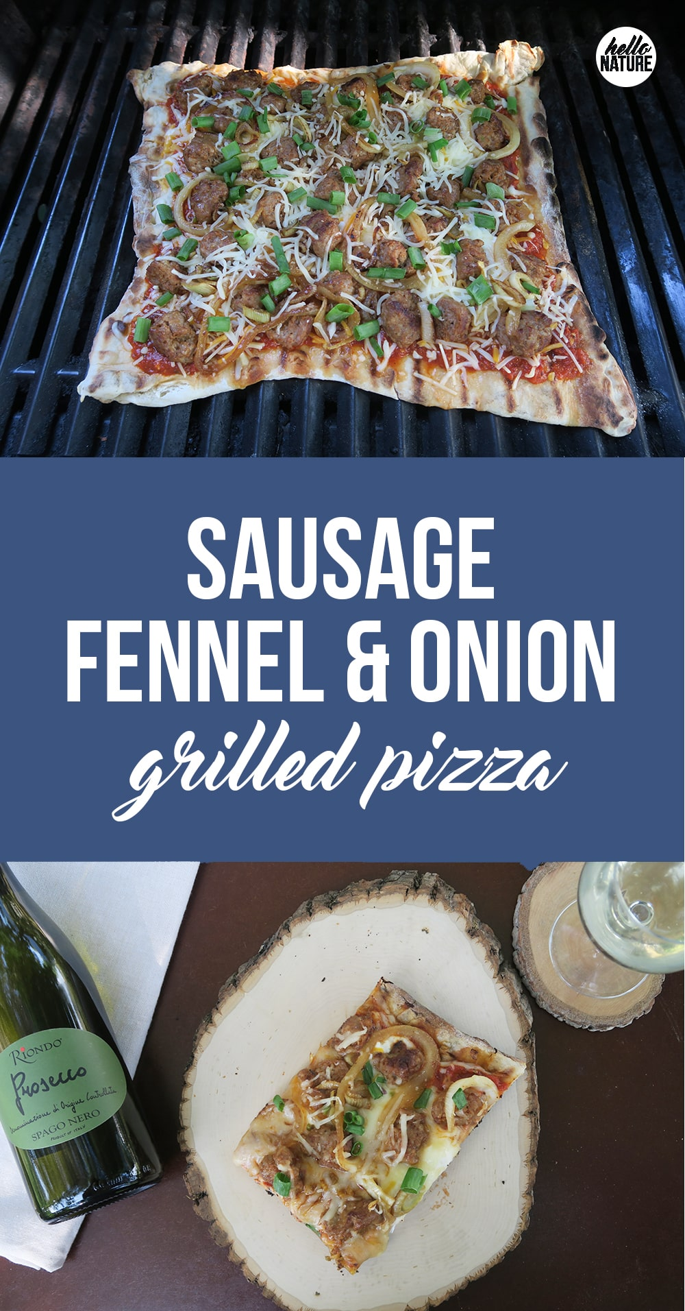 This Grilled Onion Sausage Fennel Pizza Recipe is a summer dish you won't want to miss! Made with store-bought pizza dough, dinner will be done in no time!