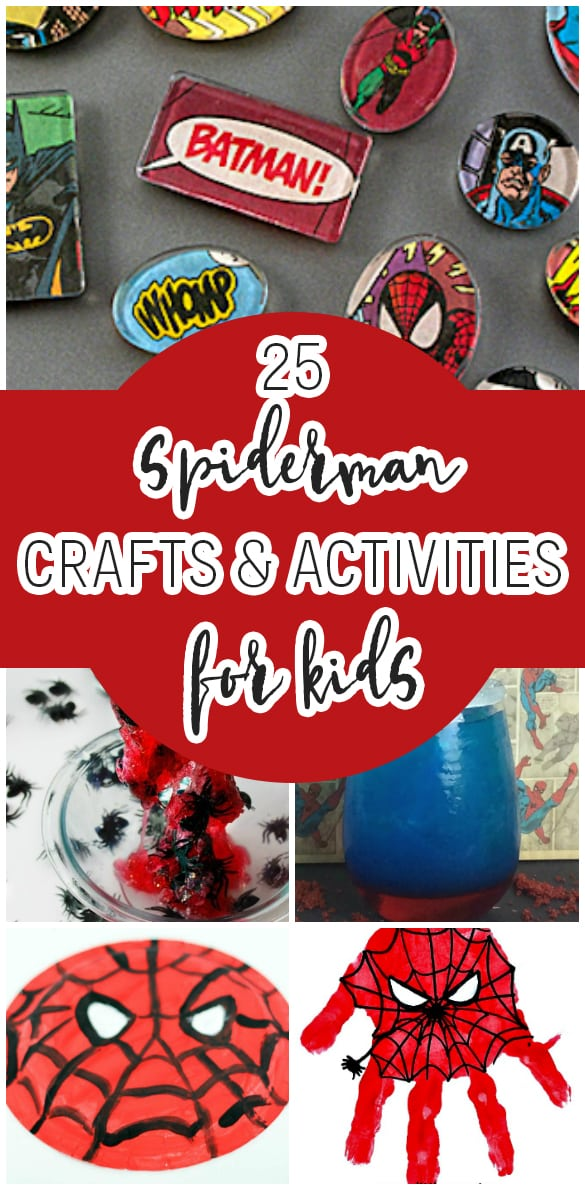 Find your inner superhero and get out your craft supplies! Your kids will love creating all of these Spiderman craft ideas. These Spiderman crafts and activities are fun for the whole family to make, too!