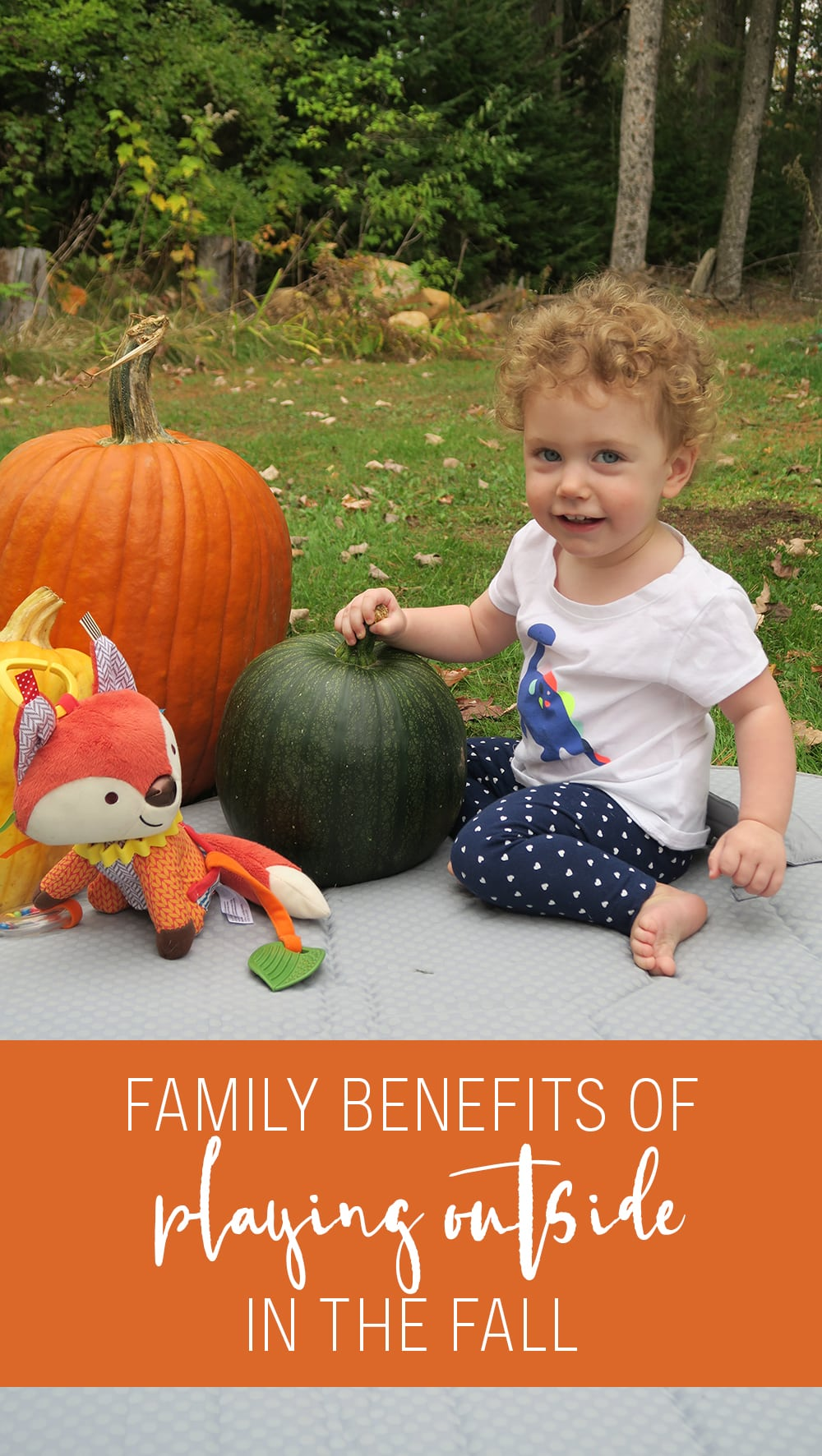 Did you know there are tons of benefits of playing outside in fall for families? Check out what they are plus some easy ideas for a fun, filled autumn!
