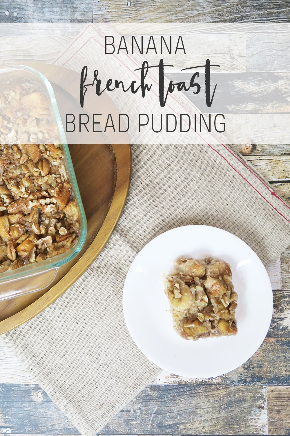 This banana french toast bread pudding recipe is a sweet combo of two delicious dishes. Great for breakfast or a side, it's a dish you won't want to miss!