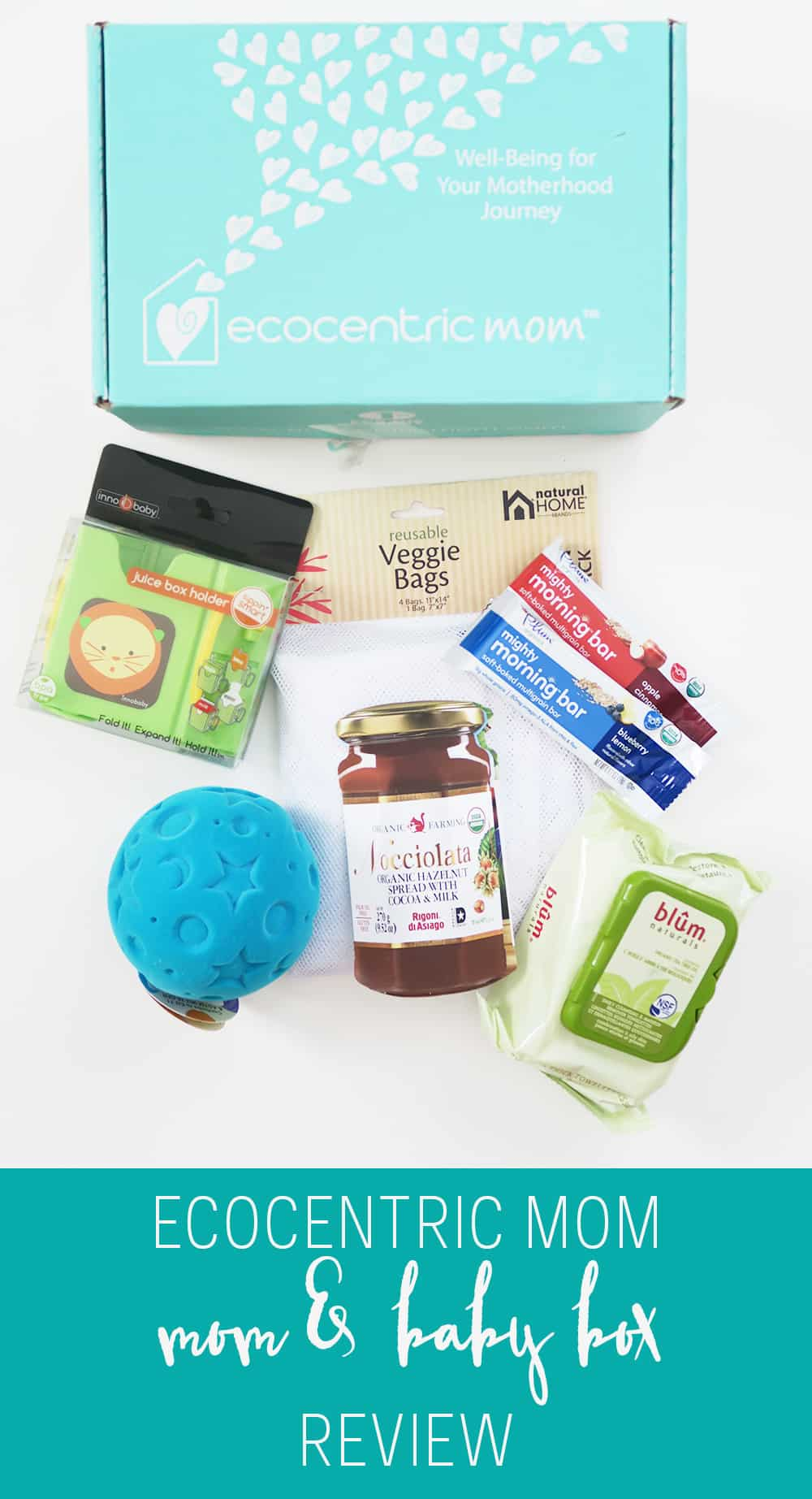 A review of November's Ecocentric Mom Box for Mom and Baby. A must have subscription box for babies and their mamas!