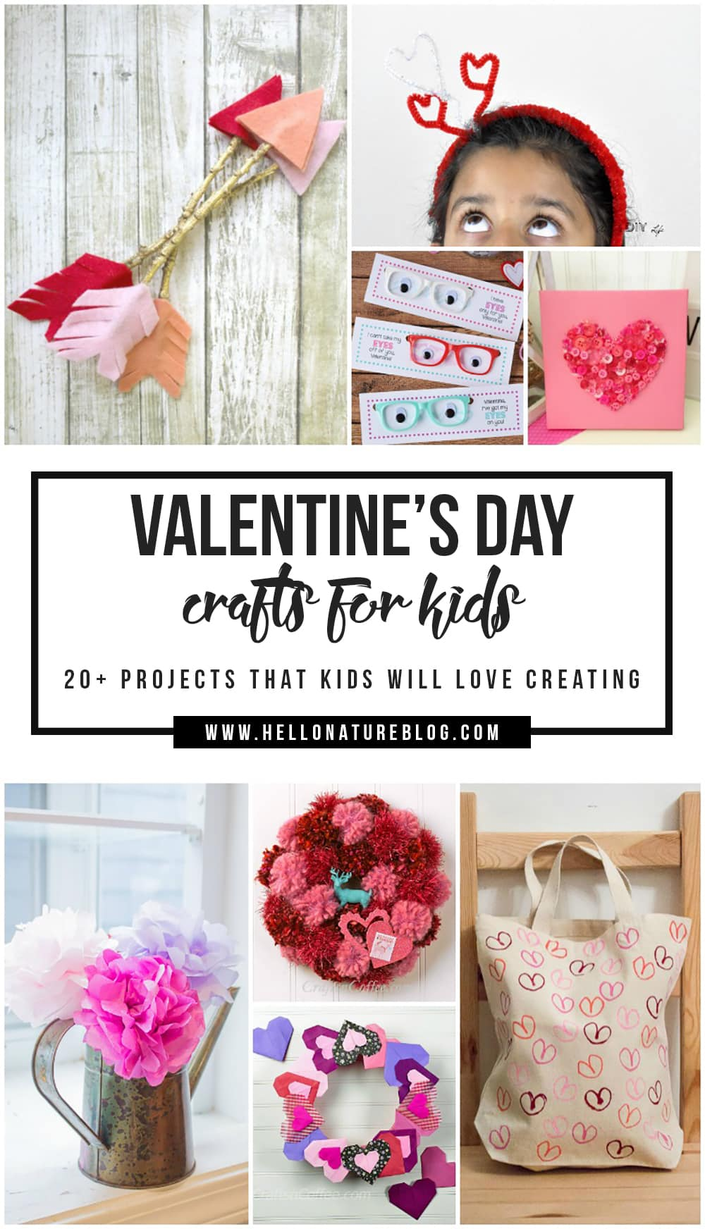 Looking for some fun and easy Valentine's Day Projects for Kids? With over 20 crafts, this list is perfect for those big and small!