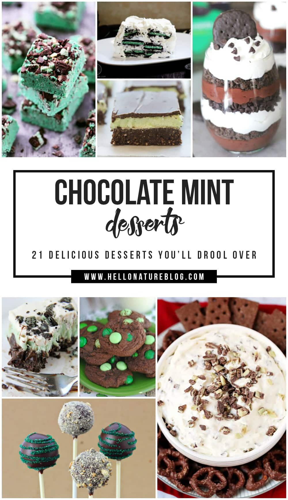 Assortment of Chocolate Mint Desserts