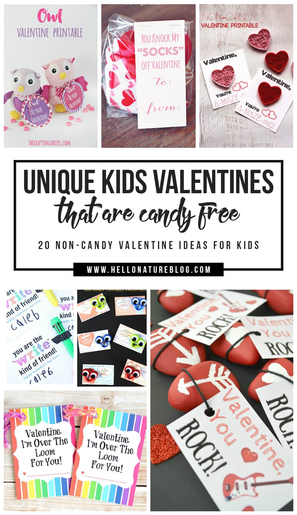 Make your kids forget all about the sugar they're craving this Valentine's Day with these unique kids valentines that are candy free!