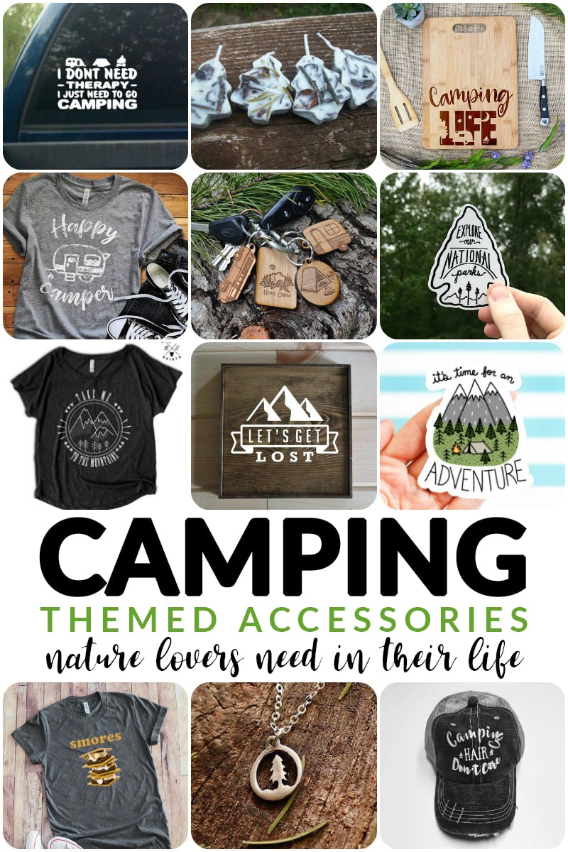 camping themed accessories