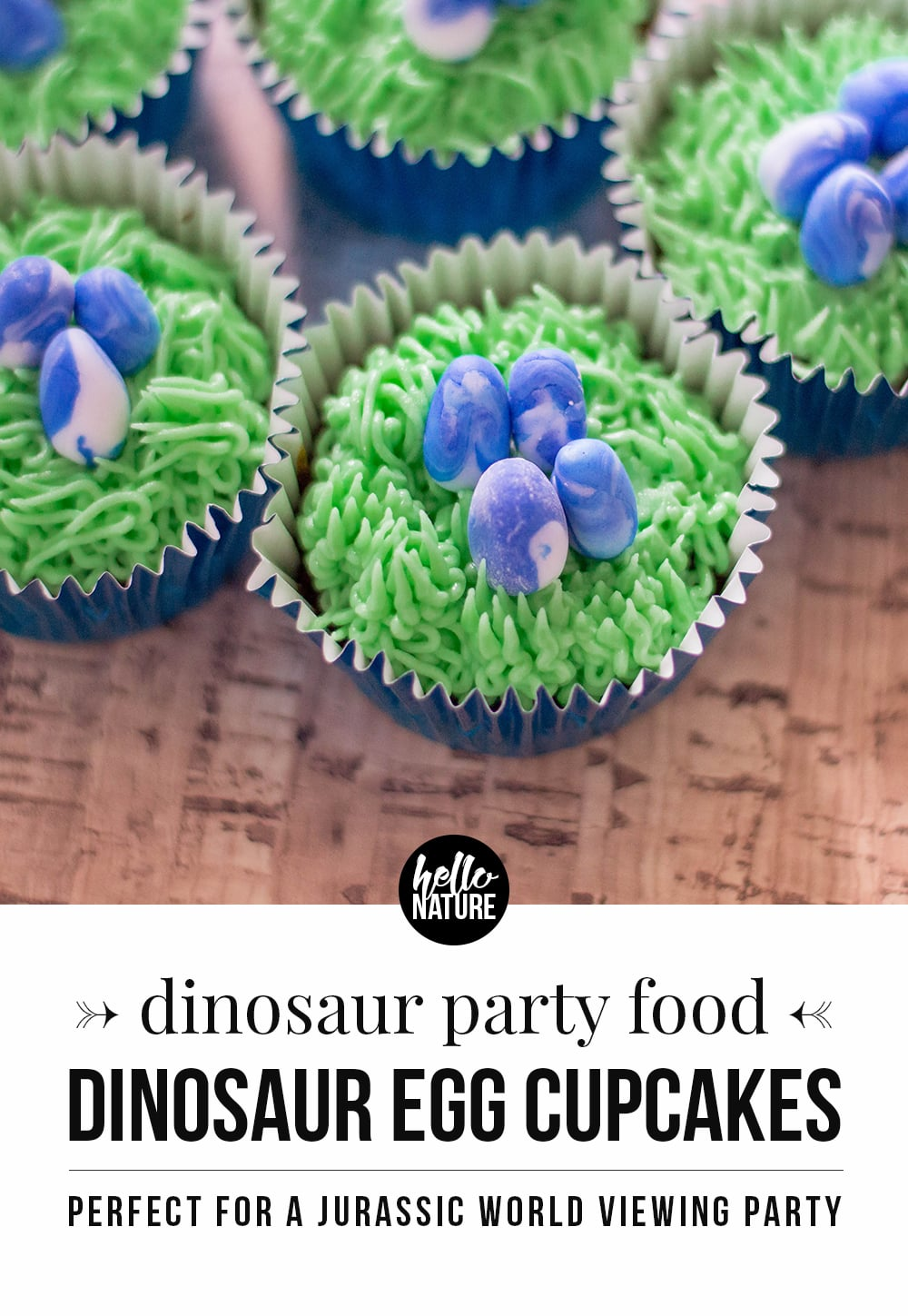 Looking for a dinomite addition to your next dinosaur party? You can't miss these deliciously easy dinosaur cupcakes with eggs!