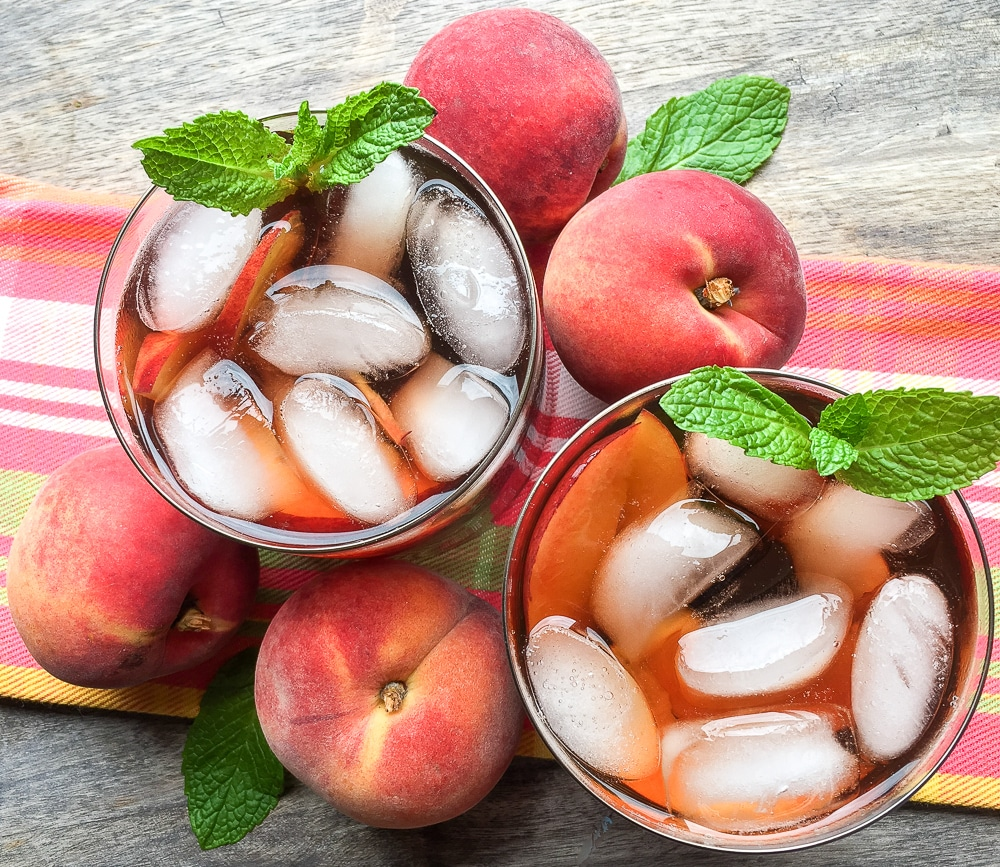 Wisconsin lifestyle blogger Ashley from Hello Nature shares a refreshing recipe for Ginger Peach Iced Tea that's made in the Instant Pot. See how easy Instant Pot iced tea is now!