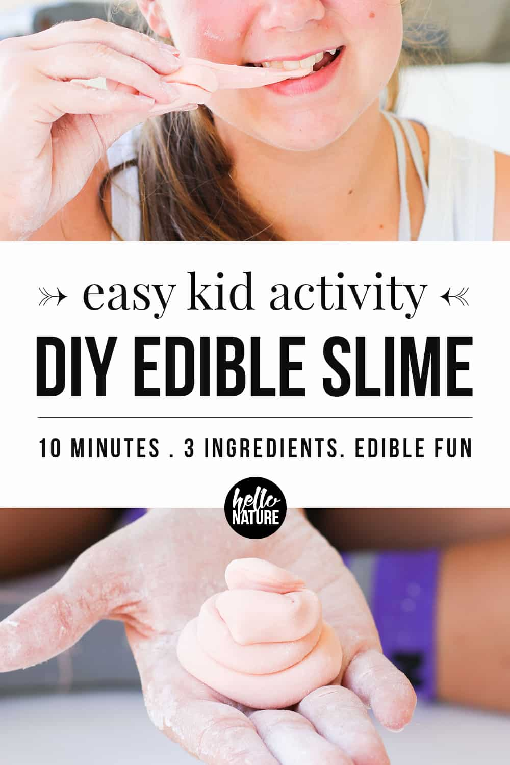 Edible slime is easy to make with just a few ingredients. Family blogger Hello Nature is sharing an easy slime recipe that gummy worm lovers can't miss!