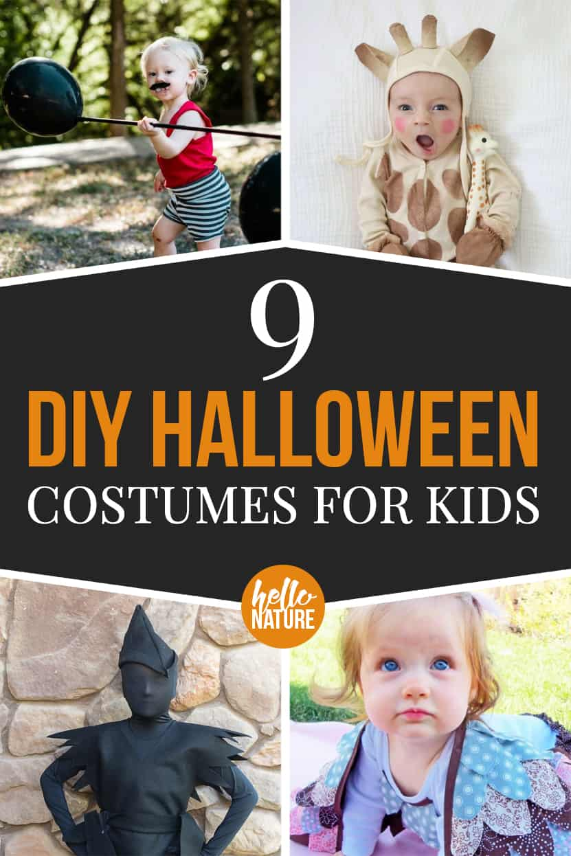 9 diy halloween costumes for kids - hello nature