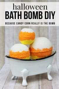 diy halloween bath bomb idea