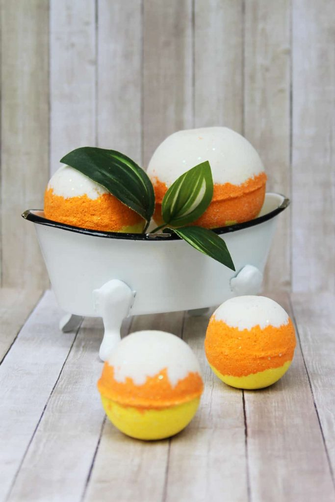 Candy Corn Halloween Bath Bomb