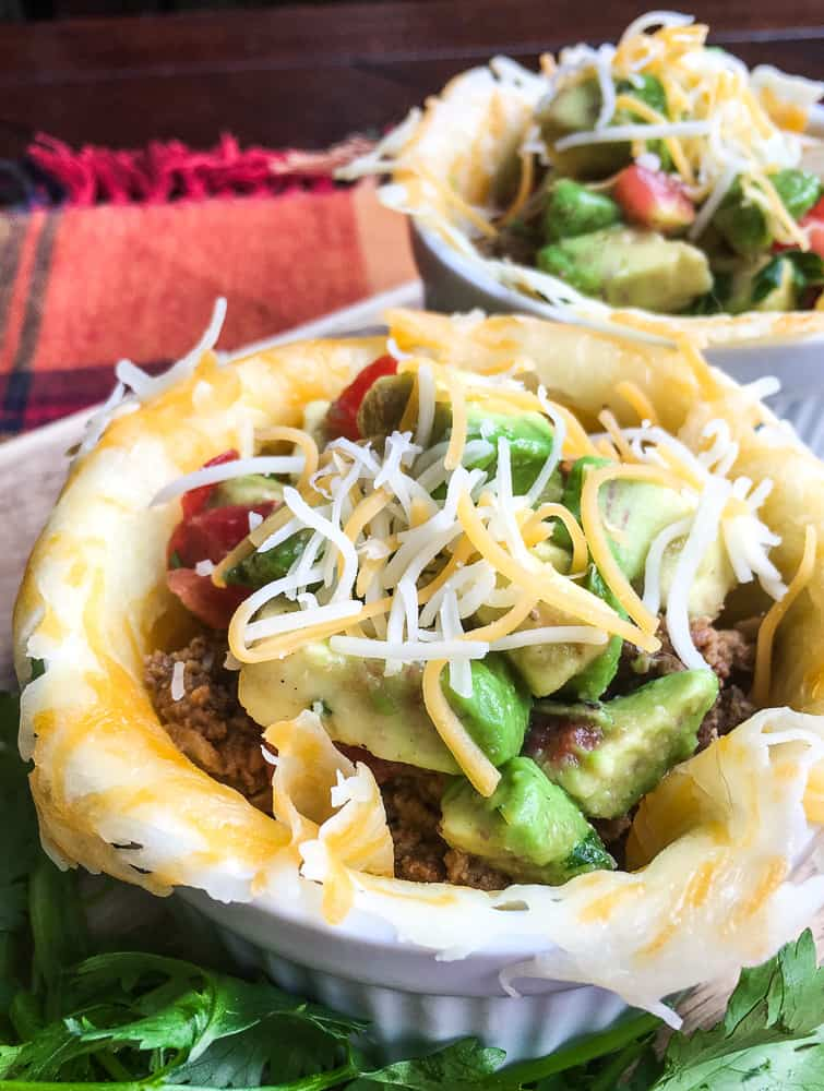 Planning out your keto dinner menu? Be sure to add these Keto cheese cups! It's a delicious weeknight meal under 30 minutes.