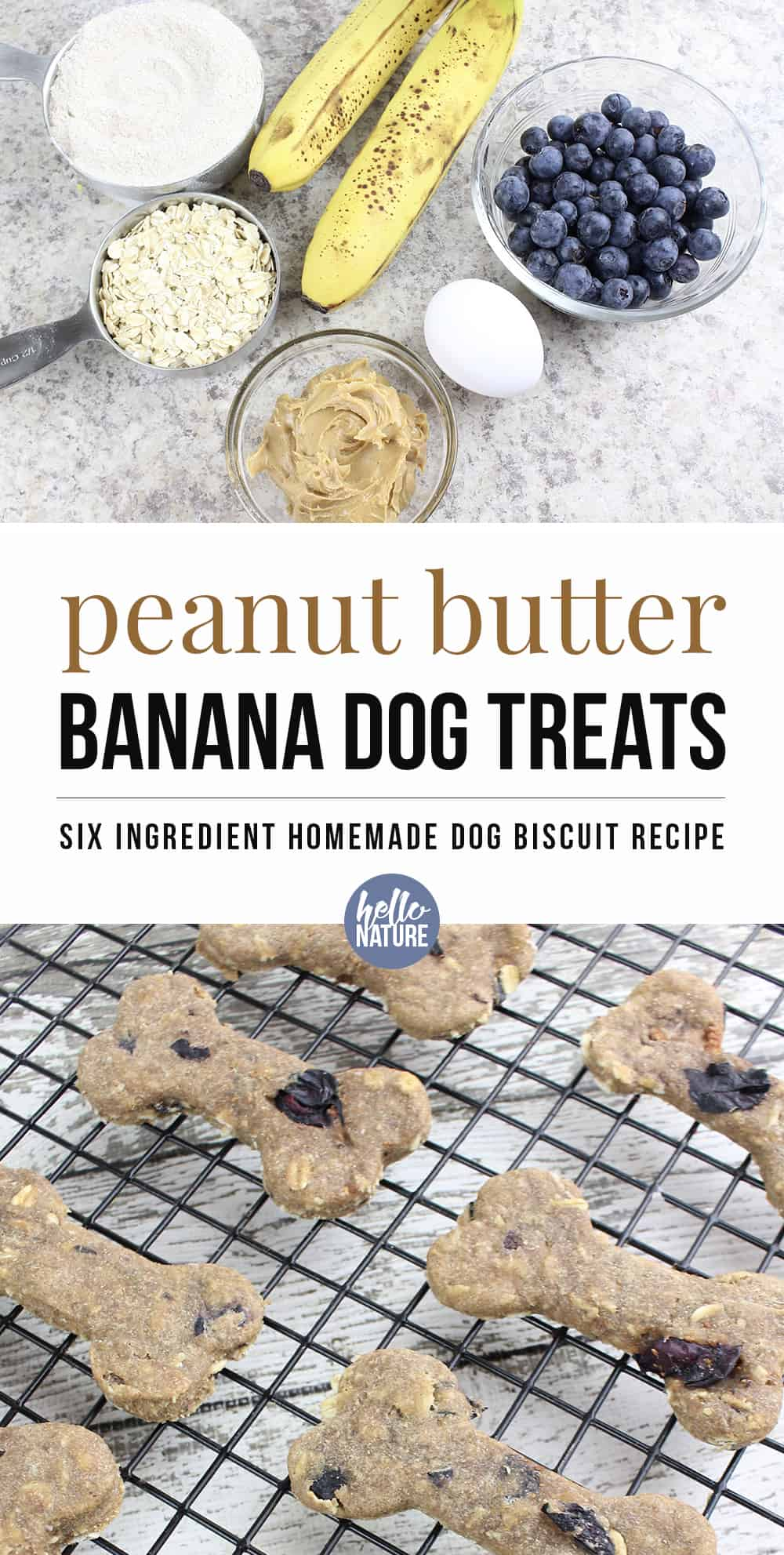 These Peanut Butter Banana Dog Treats are super easy dog treats that you can make at home!