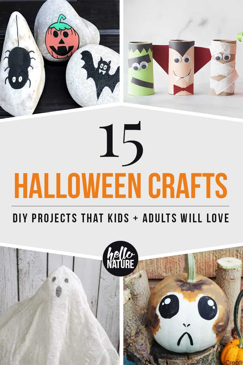 Looking for Halloween crafts to make with your kids? You and your little ones will love these kid-friendly Halloween crafts! There's something everyone can make this October. #Halloween #HalloweenDIY #HalloweenCrafts #KidCrafts #HalloweenKidCrafts
