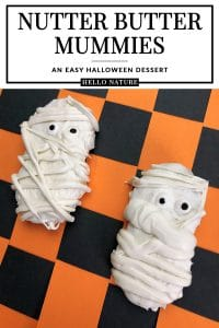 Don't miss these Nutter Butter Mummies for your Halloween party! This easy Halloween dessert is super simple to make and fun to make with kids. The whole family will have fun making this mummy dessert recipe! #Halloween #HalloweenParty #HalloweenPartyFood #HalloweenDessert #NutterButter