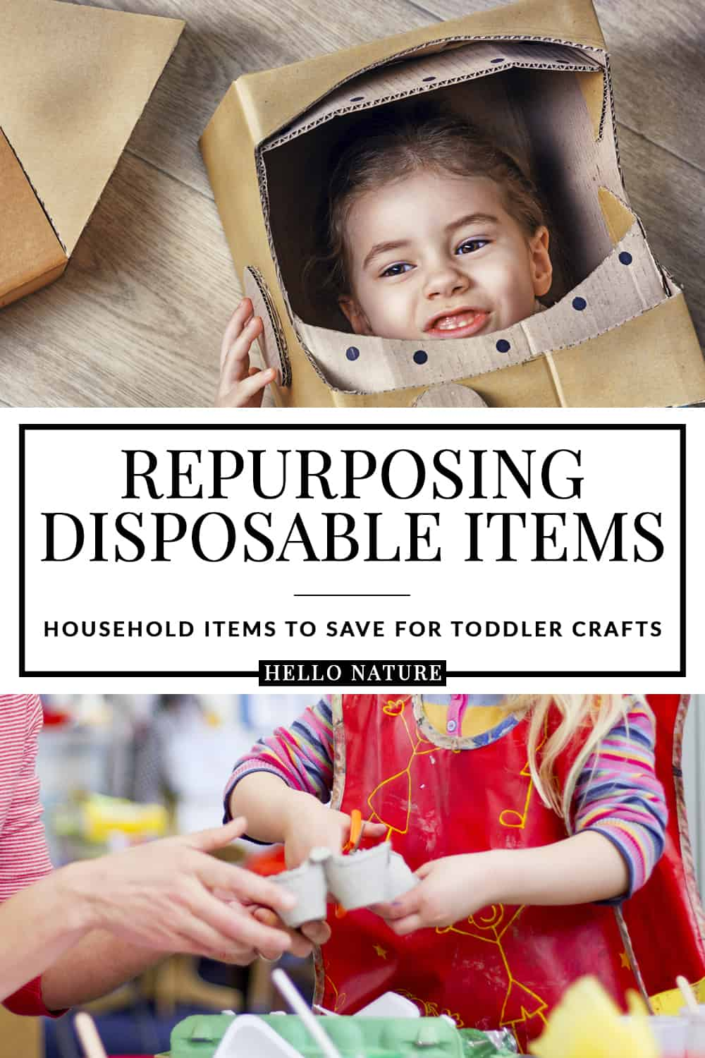 Easy household crafts don't have to be hard, especially if you're looking for crafts with common household items. You'll totally want to repurpose these household items once you see how creative you can be with them! #ad #AllAboardForGlobalGoals #ToddlerCrafts #Upcycling #Repurpose #ReduceReuseRecycle #UpcycledCrafts