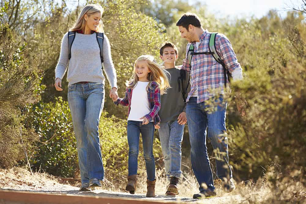 Benefits of hiking in nature with kids