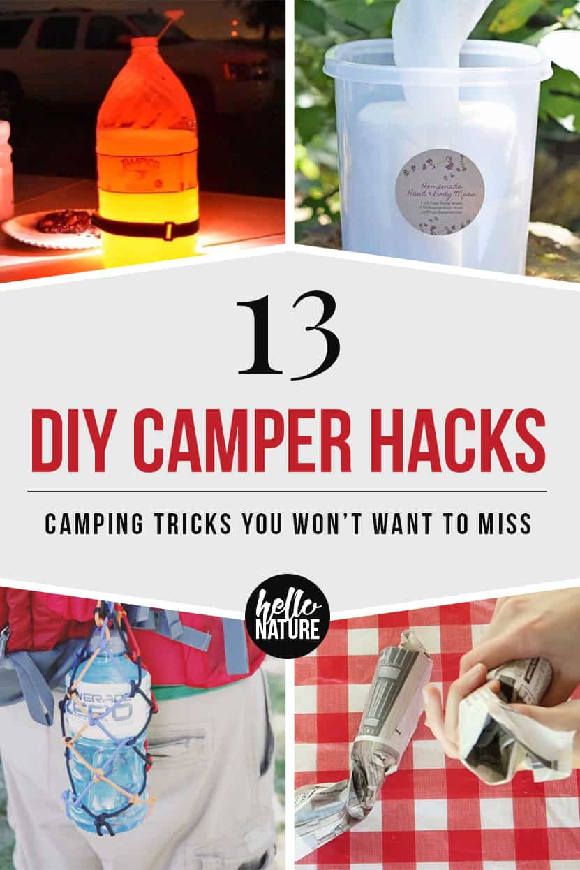 Want DIY camper tricks that will help you achieve the best camp setup ever? You'll love these summer DIY camping projects! These DIY camping hacks and projects are perfect for families looking to get out and make the most of their campsite. Check out these thrifty camping ideas so your next camping trip is even more awesome! #Camping #FamilyCamping #CampingHacks #CampingDIYs #SummerDIYs