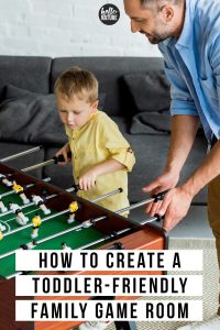 These childproofing hacks for toddlers will help ensure that your family game room is fun for the whole family. You'll find fun family entertainment room ideas that will make your family game night even more enjoyable. Plus, find some toddler friendly home products that will help you discover even more entertainment game room ideas. #GameRoom #FamilyNight #GameNight #ToddlerProof #Childproofing #ToddlerHacks #FamilyGameRoom