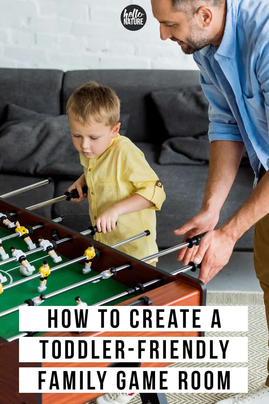 In search of fun family rec room ideas for even the littlest members of your family? These family game room ideas make playrooms simple and fun even for toddlers. Find toddler friendly home products for organizing and play that will make a recreation room entertaining for the whole family. #GameRoom #FamilyNight #GameNight #ToddlerProof #Childproofing #ToddlerHacks #FamilyGameRoom