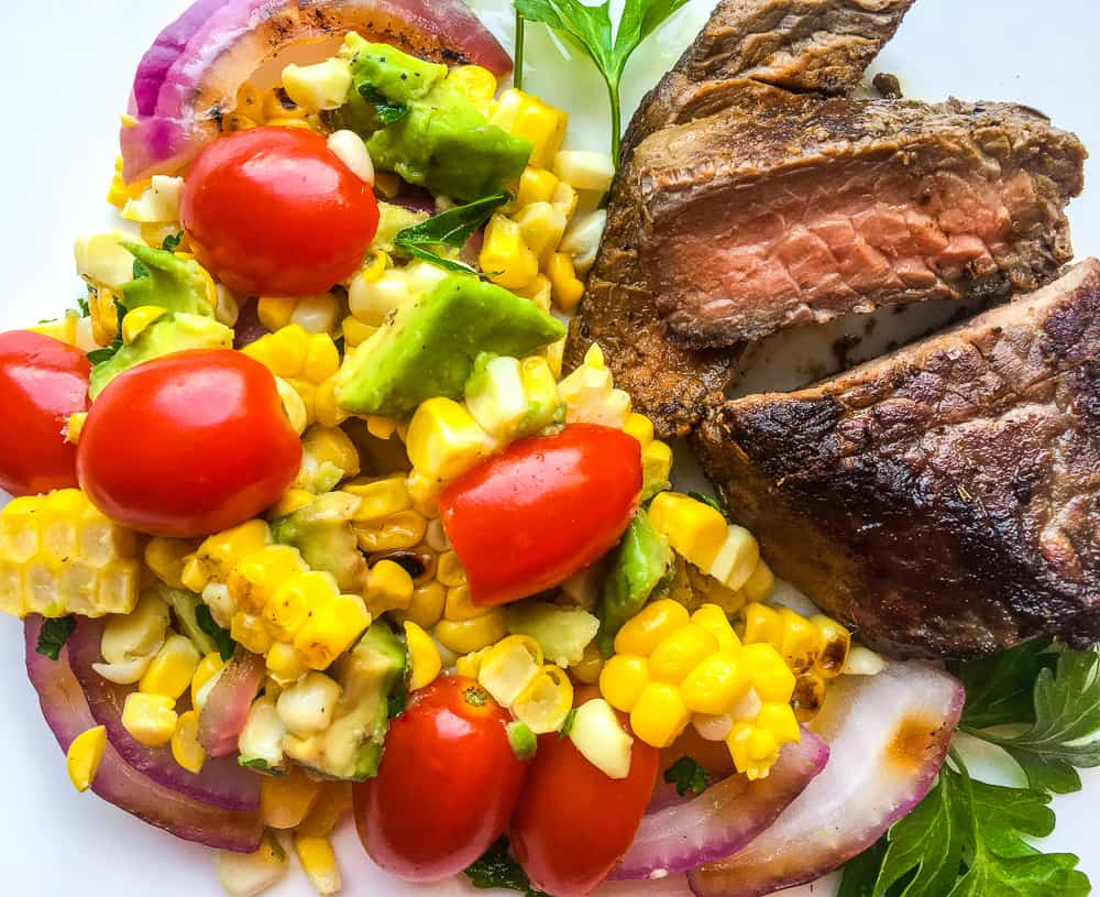 avocado cherry tomato corn salad