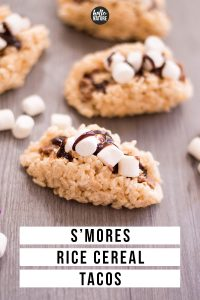 s'mores rice cereal tacos