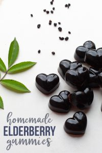 easy elderberry gummies from syrup